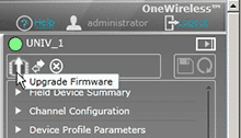 Starting the firmware update process on your wireless system