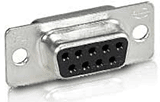 Female solder pin DB-9 connector