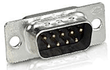 DB-9 male solder pin connector end