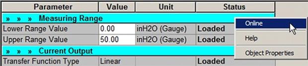 Siemens SIMATIC PDM online mode