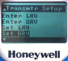 Honeywell ST700 ST800 configuration screen