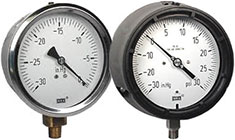 Vacuum and compound range pressure gauges